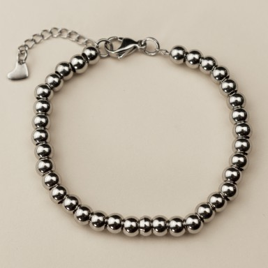 Base for bracelet with stainless steel beads