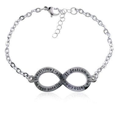 "Infinity Bracelet ""infinite destiny"" in stainless steel"