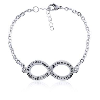 Infinity Bracelt SISTERS in stainless steel