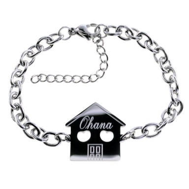 Family bracelet with 1 component in stainless steel