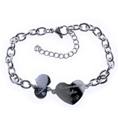 BABY SHOWER bracelet in stainless steel