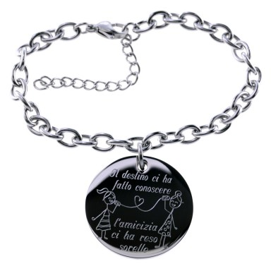 Bracelet friends on the phone in stainless steel