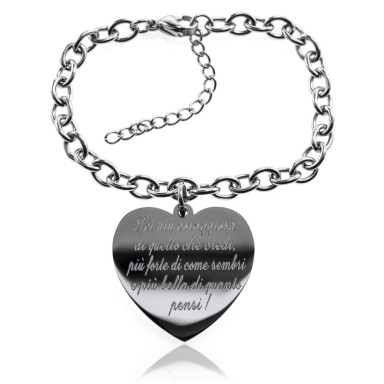 """You are more beautiful than you think"" bracelet in stainless steel"