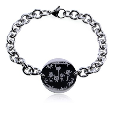 Bracelet we love you dad in stainless steel