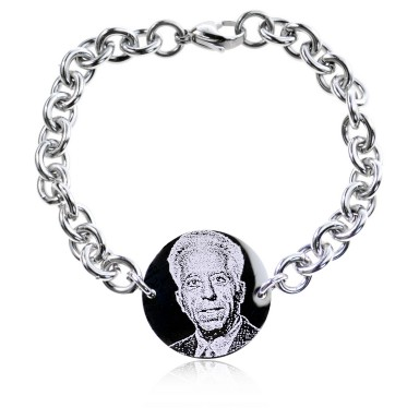 Round bracelet with photo in stainless steel