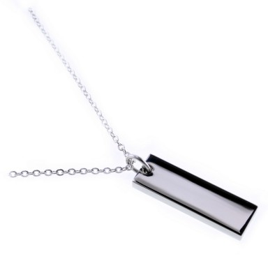 Customizable stainless steel bar necklace
