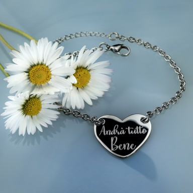 """LIMITED EDITION """"Everything will be fine"""" bracelet in stainless steel"""