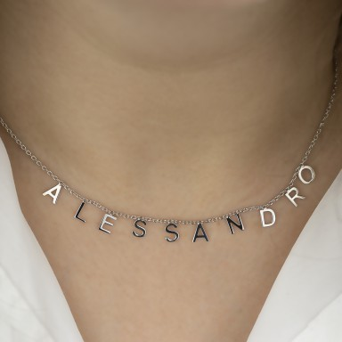 Customizable necklace with name in 925 silver