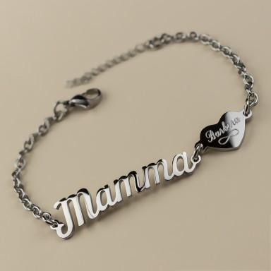 """""""MAMMA"""" bracelet in stainless steel"""