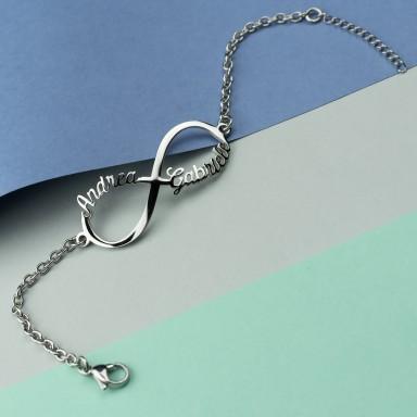 Infinite stainless steel bracelet