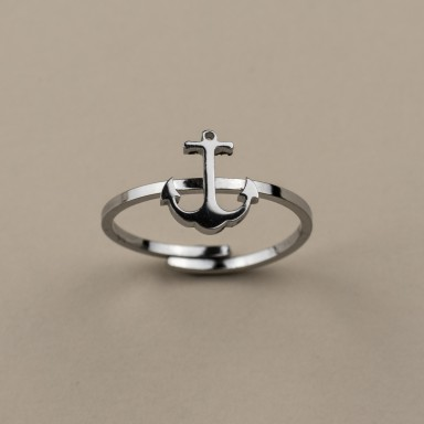 Ring with adjustable stainless steel anchor