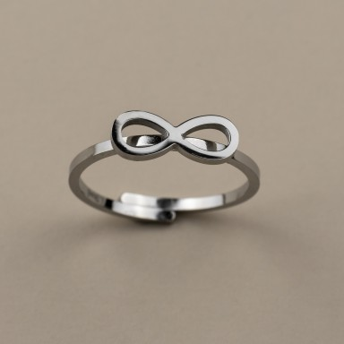 Infinite ring in stainless steel