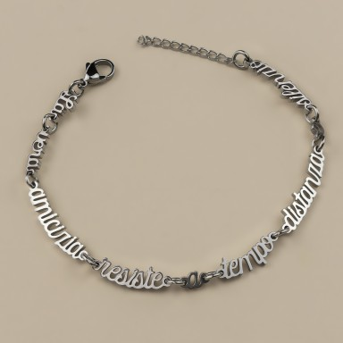 Bracelet true friendship in stainless steel