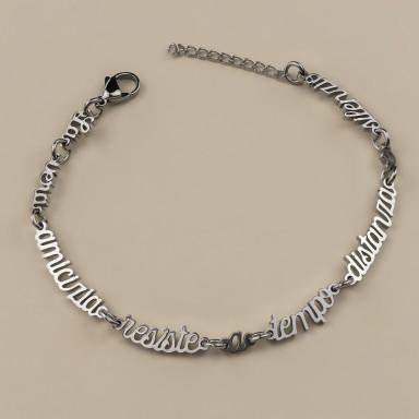 Bracelet true friendship in stainless steel