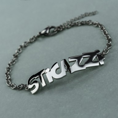 "Bracelet ""sticazzi"" unisex in stainless steel"