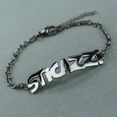 """Bracelet """"sticazzi"""" unisex in stainless steel"""