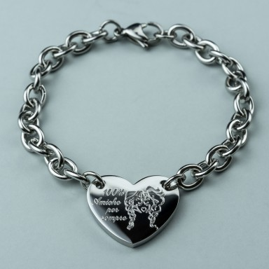 Bracelet in stainless steel 100% friends