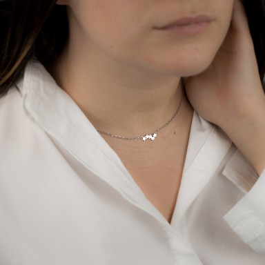 Taormina model star constellation necklace in stainless steel
