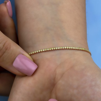 Lime tennis bracelet in rhodium finish 925 silver
