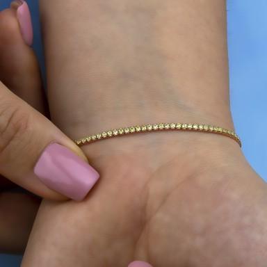 Bracciale tennis lime in argento 925 placcato oro rosa
