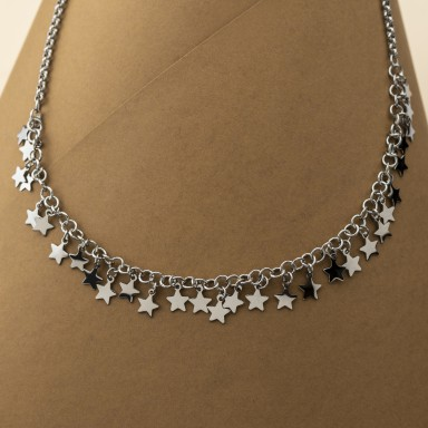 Necklace with stars LERICI model in stainless steel