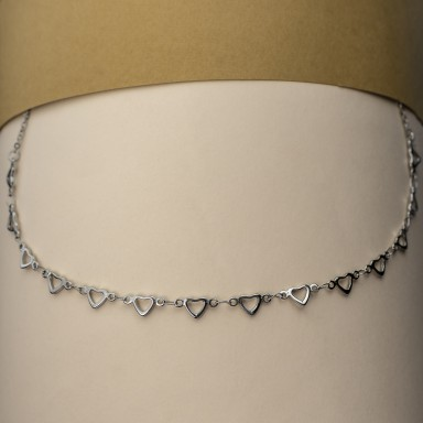 PIACENZA necklace with CHAINED hearts