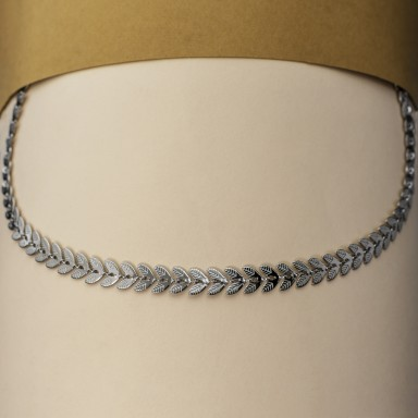 TRENTO model leaves necklace in stainless steel