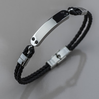 TETIAROA bracelet in eco-leather and stainless steel