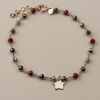 """""""ORCHID"""" model bracelet in rose gold plated 925 silver star"""