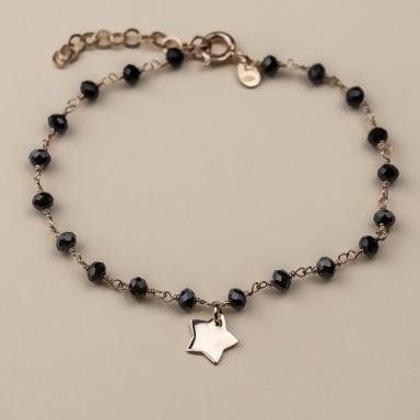 """CROCUS"" model bracelet in rose gold plated 925 silver star"