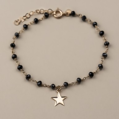 """DAISY"" model bracelet in rose gold plated 925 silver star"