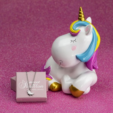 copy of Unicorn piggy bank with stainless steel necklace