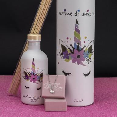 White unicorn perfumer with free necklace