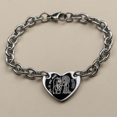"Stainless steel bracelet ""you are my half"""