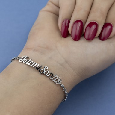 """Bracelet """"FatemiSanta"""" woman in stainless steel"""