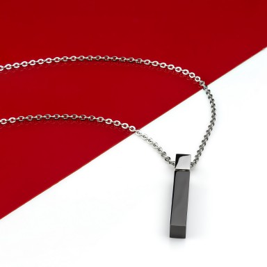Matchstick necklace in stainless steel