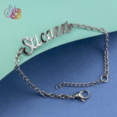 """Bracelet """"sticazzi"""" elegance woman in stainless steel"""