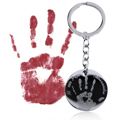Keyring imprint in stainless steel