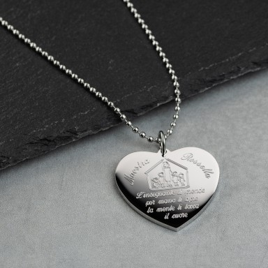 Heart Necklace for the teacher stainless steel