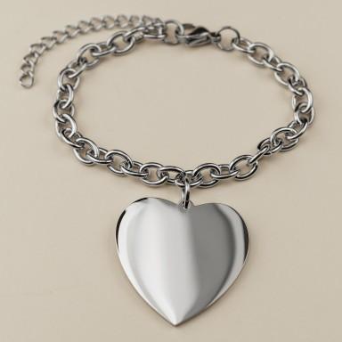 Custom Bracelet with heart pendant