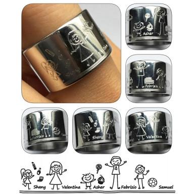 Custom ring in stainless steel