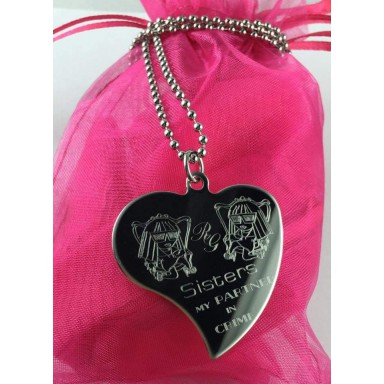 "Necklace ""SISTERS MY PARTNER IN CRIME"""