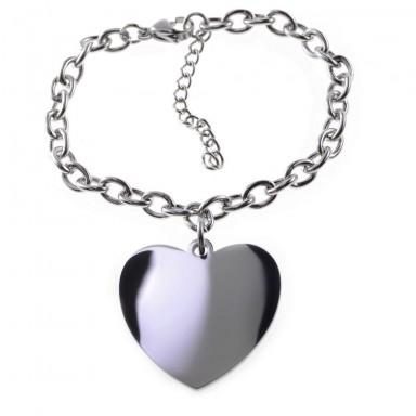 Bracciale con catena e con cuore pendente
