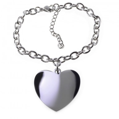 Custom Bracelet with heart pendant