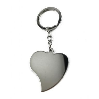 Portachiavi cuore punta storta personalizzabile