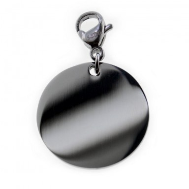 Round stainless steel charm 18 mm