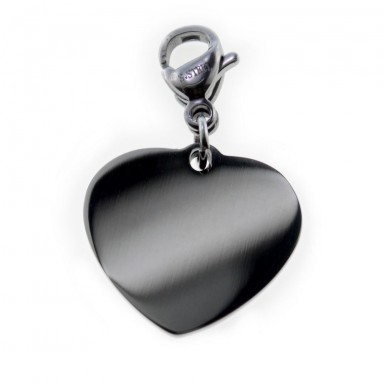 Heart charm in stainless steel 13 mm